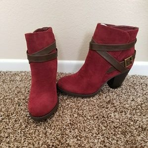 Red/Burgundy Booties